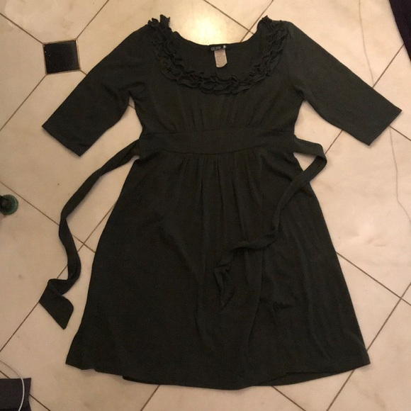 Dresses & Skirts - Army green cotton dress